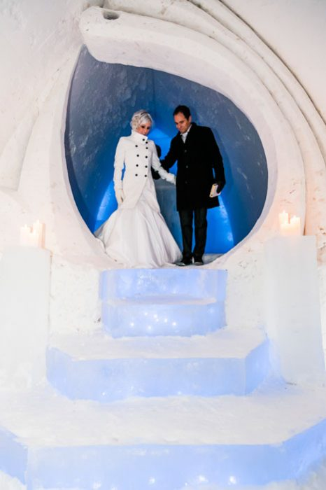 Wedding At The Snowhotel In Rovaniemi In Lapland Arctic