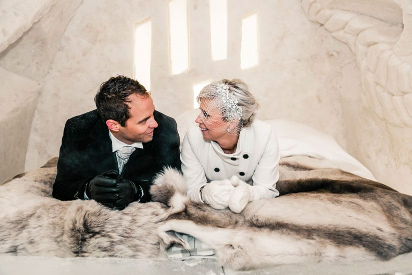 Wedding suite at the Arctic Icehotel in Lapland in Finland - Arctic ...