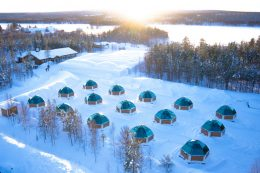 Arctic Glass Igloos in Rovaniemi in Finnish Lapland