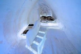 A group room of Arctic  Snow Hotel in Rovaniemi in Finnish Lapland