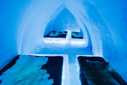 Group room of Arctic Snow Hotel in Rovaniemi in Finland