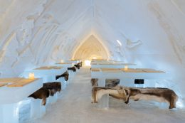 Ice Restaurant of the Arctic SnowHotel in Rovaniemi in Finland