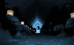 Icechapel of Arctic Snowhotel in Finland