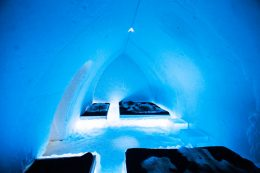 Family room of Arctic SnowHotel in Rovaniemi in Lapland