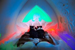 Suite at Arctic Snowhotel in Rovaniemi in Finnish Lapland