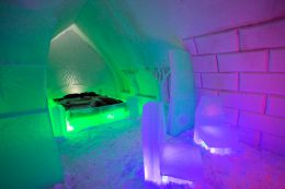 Suite at the Arctic Snowhotel in Rovaniemi in Finland