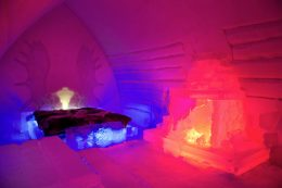 Suite at the Arctic Snowhotel in Rovaniemi in Lapland