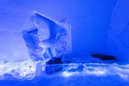 Twin suite of Arctic Snow Hotel in Rovaniemi in Finland